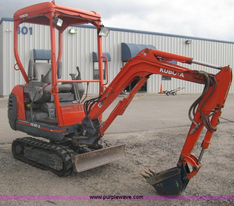 kubota kx41 2 compact excavator item a6116 sold march 2 rh purplewave com Kubota KX41 Rental NJ Kubota KX41 Rental NJ
