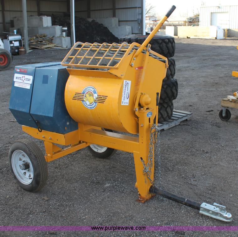 Mortar Mixer Blades : Stone pm mortar concrete mixer item a sold