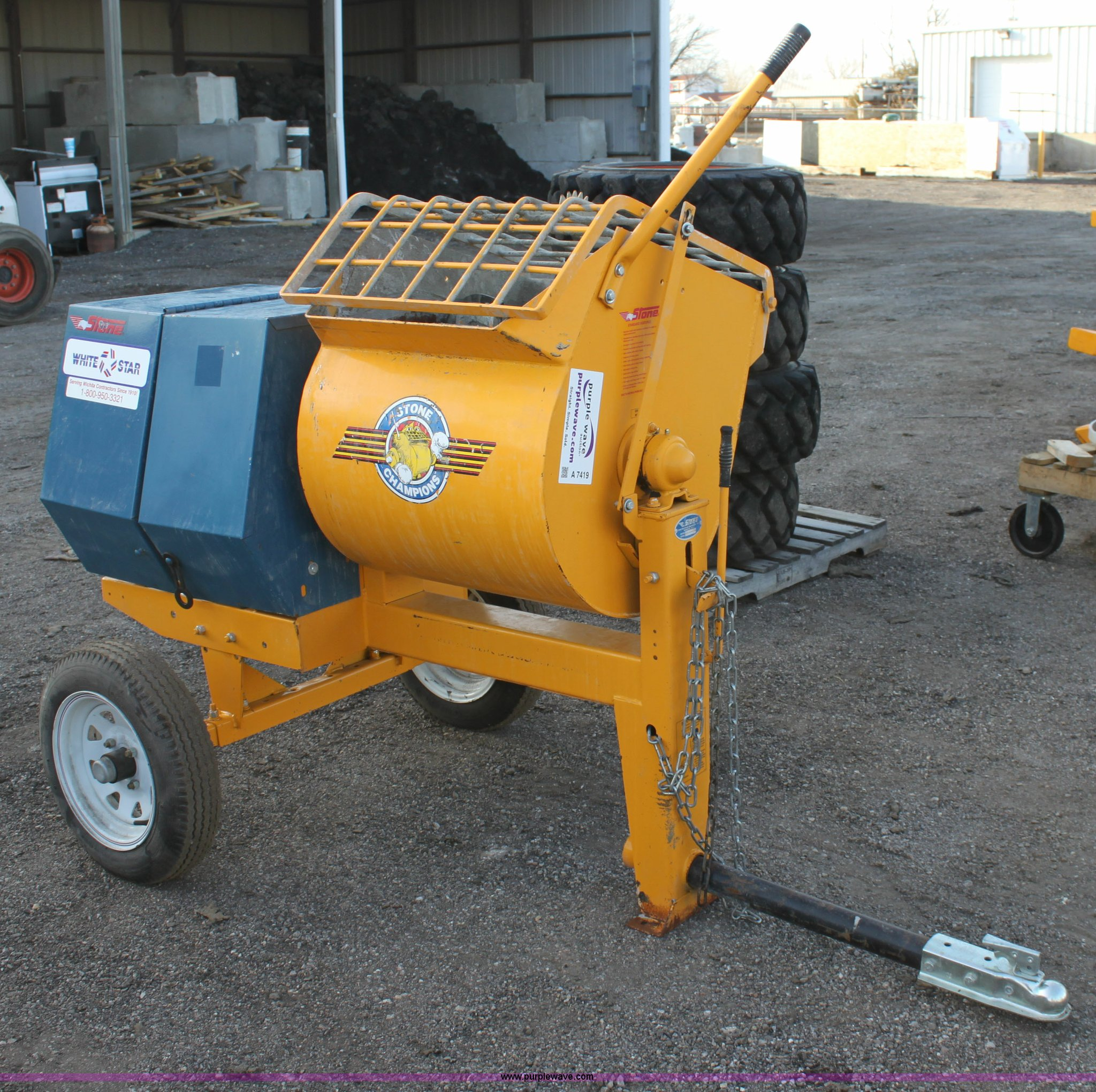 Mortar Mixer For Sale >> Stone 655pm Mortar Concrete Mixer Item A7419 Sold March