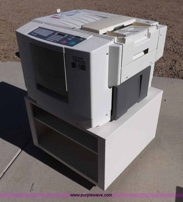 Risograph Tr1510 Copy Machine No Reserve Auction On Tuesday December 4 2012