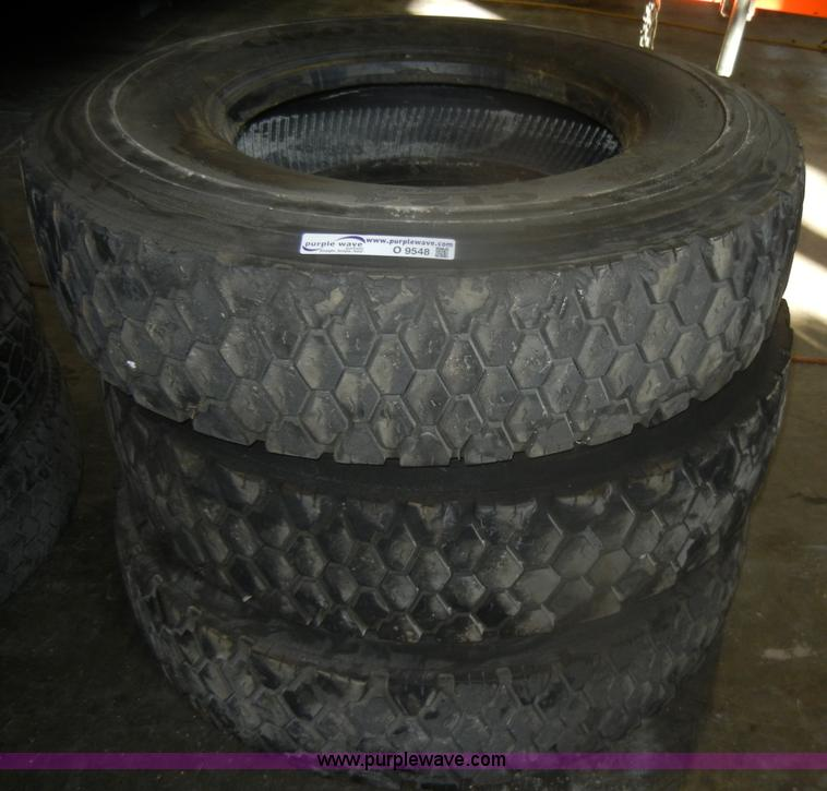 No Reserve Auction On Tuesday May 07: (3) Used Goodyear 12R22.5 Tires