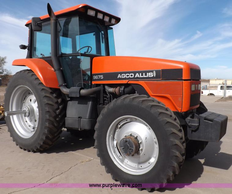 F6244.JPG - AGCO 9675F MFWD tractor , 3,918 hours on meter , Hours may vary , Detroit IA205 8 7L six cylinder di...