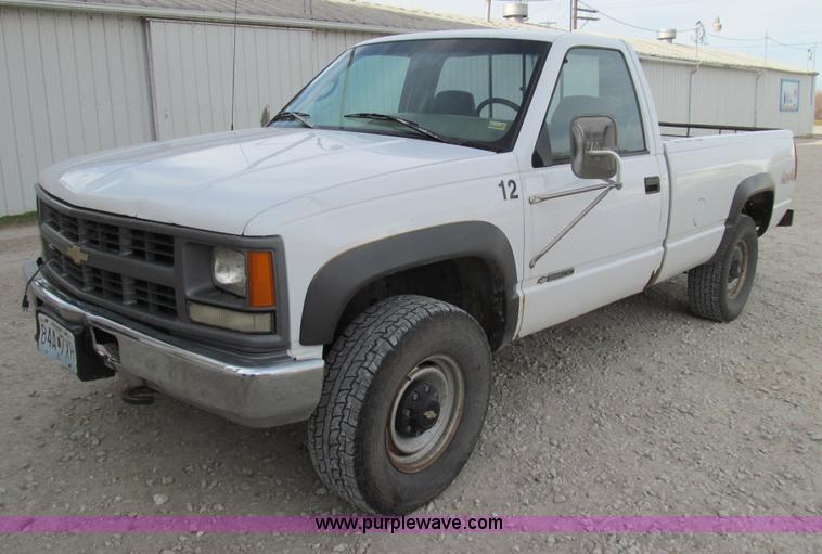 1996 chevrolet k3500 pickup truck no reserve auction on thursday december 27 2012. Black Bedroom Furniture Sets. Home Design Ideas