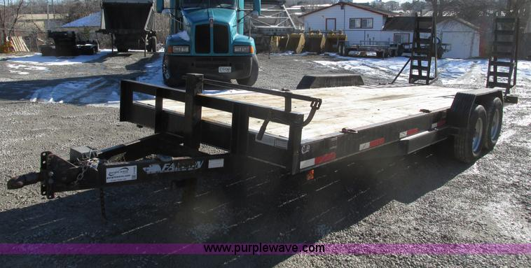 F4180.JPG - 2008 Falcon 22 equipment trailer , 7W , Heavy duty jack , Adjustable hitch height , Safety break awa...