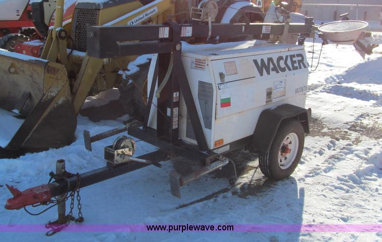 F5907.JPG - 2007 Wacker LTC4L portable light tower , 4,724 hours on meter , Lombardini diesel engine , 120V outl...