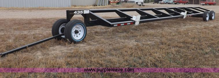 F6364.JPG - Header trailer , 35 x 54 quot table , 10L front axle and tongue assembly , 3/4 quot hitch pin hole ,...