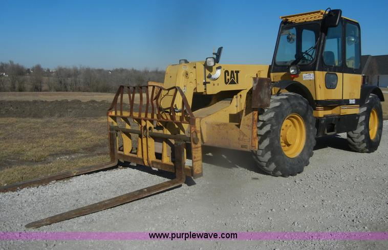 D4583.JPG - 1998 Caterpillar TH103 telehandler , 7,511 hours on meter , Caterpillar four cylinder diesel engine ...