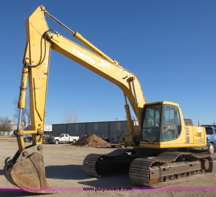 F6562.JPG - 2000 Komatsu PC270LC 6L excavator , 8,685 hours on meter , Six cylinder turbo diesel engine , Enclos...
