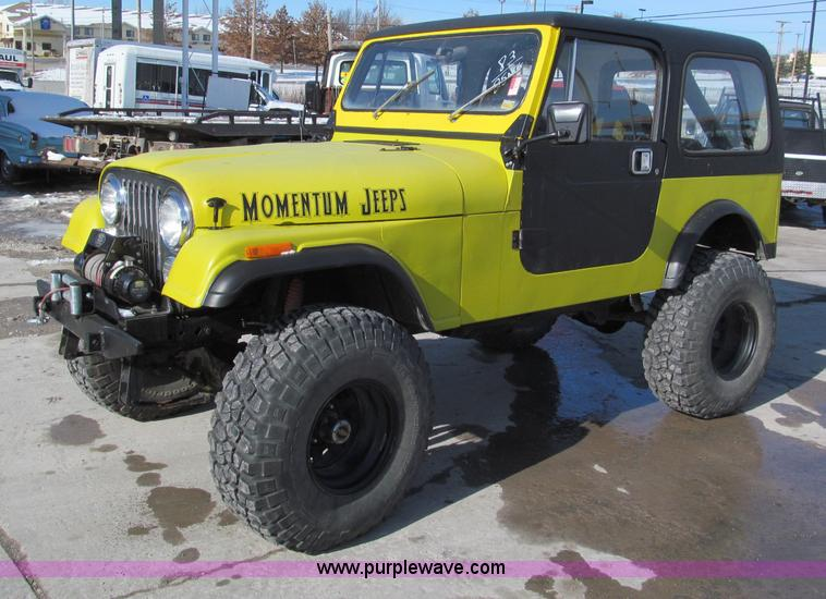 E5868.JPG - 1983 Jeep CJ7 SUV , 3,284 miles on odometer , 4 2L I6 gas engine , After market Webber carburetor , ...