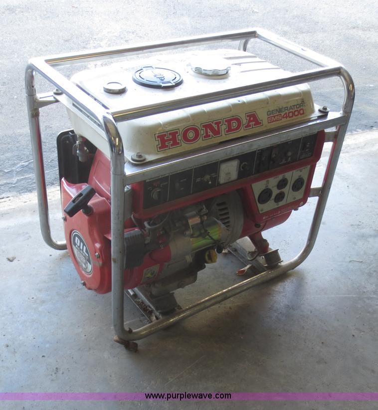 Honda 4,000 watt generator | no-reserve auction on ...