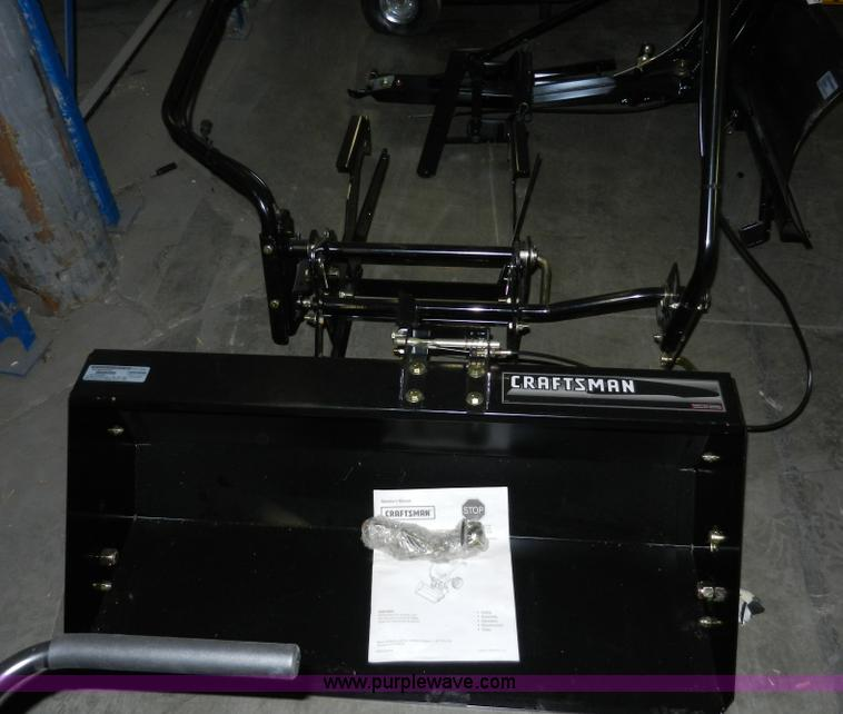 Craftsman Front Scoop Tractor Attachment : Craftsman quot lawn tractor front scoop bucket no reserve