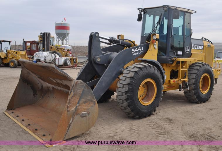 C3386.JPG - 2005 John Deere 544J wheel loader , 16,598 hours on meter , High lift , 6068 turbo diesel engine , S...