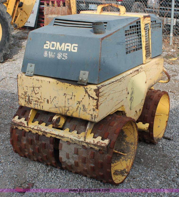 1997 Bomag Bw85t Walk Behind Trench Compactor