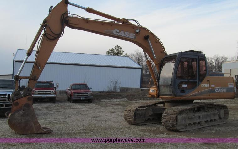 E3722.JPG - 2001 Case CX160 excavator , 4,473 hours on meter , 4TA 390 diesel engine , 110 HP , Enclosed cab , A...