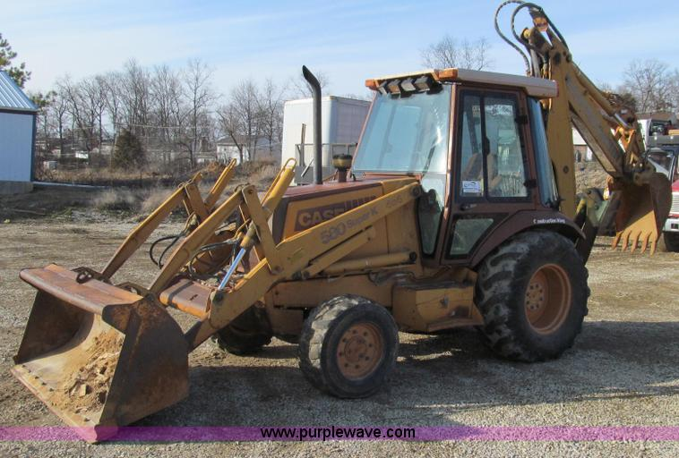 E3723.JPG - 1992 Case 580 Super K Extendahoe backhoe , 6,720 hours on meter , Four cylinder diesel engine , Shut...