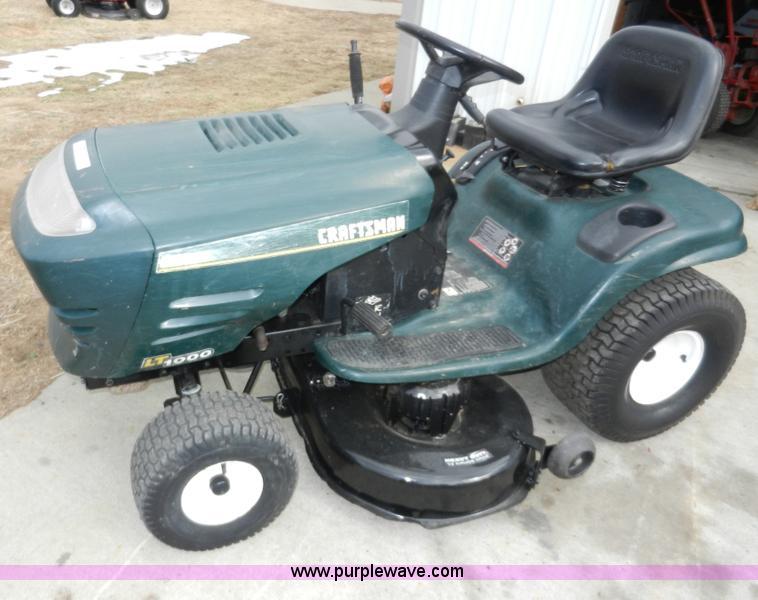Craftsman Lt1000 Riding Lawn Mower | Apps Directories