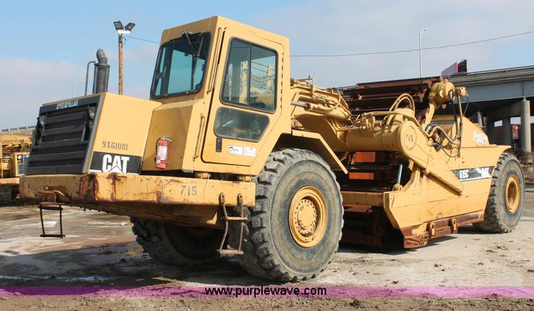 E2814.JPG - 1998 Caterpillar 615C paddle scraper , 2,413 hours on meter , Caterpillar 3306 six cylinder diesel e...
