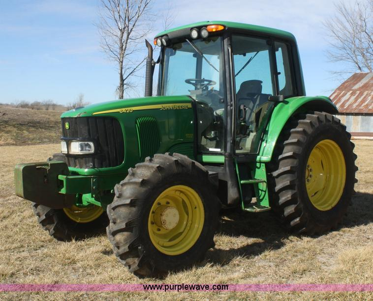 V9511.JPG - 2005 John Deere 6420 MFWD tractor , Approximately 5,500 hours on meter , John Deere 4 5L four cylind...