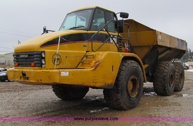 D7159.JPG - 2006 Caterpillar 740 articulated dump truck , 9,916 hours on meter , Caterpillar C15 Acert 15 2L six...