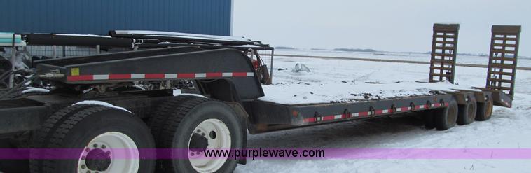 F5916.JPG - 1965 Hyster R35TL3 TIN lowboy triple axle trailer , 28L x 102 quot W wood deck , 82 quot L x 29 quot...