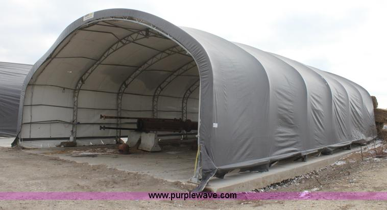 E8385 image for item E8385 Shelter logic tent building & Shelter logic tent building | Item E8385 | SOLD! February 19...