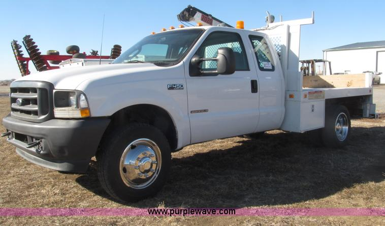 B5396.JPG - 2003 Ford F450 XL Super Duty SuperCab flatbed truck , 230,600 miles on odometer , Powerstroke 7 3L V...