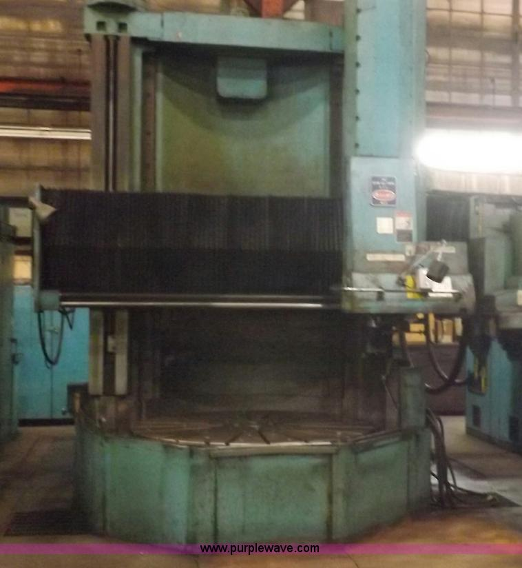 Y9475.JPG - 1982 Bullard Dynatape vertical boring mill , 76 quot diameter table , 88 quot max swing , 84 quot H ...