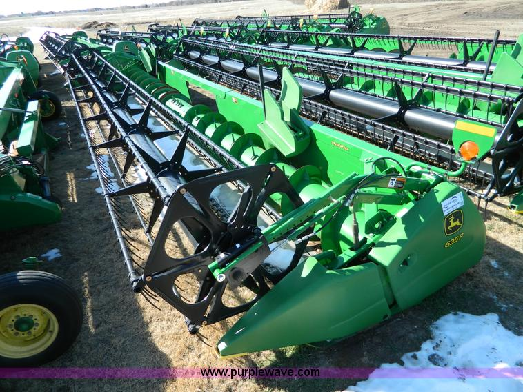 G7747.JPG - 2010 John Deere 635F flex header , Hydra flex , Serial 1H0063FVA0735951 , Carrico 06883 ...