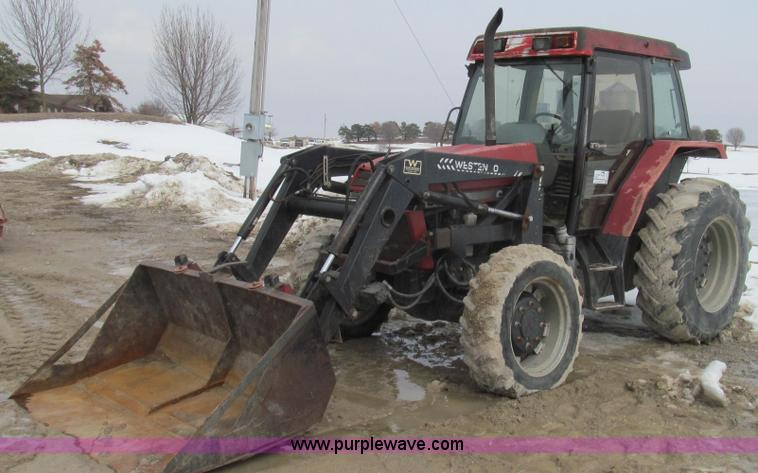 E3802.JPG - Case IH 5220A MFWD tractor , 9,262 hours on meter , 4T 390 four cylinder diesel engine , Serial X521...