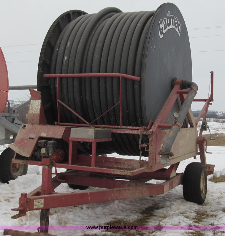 E3808.JPG - 1996 Cadman Traveller irrigation reel , Model 3250X , Approximately 440 meters of hard hose , Design...
