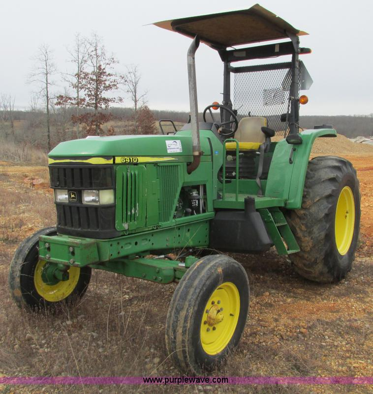 F4473.JPG - 2001 John Deere 6410 tractor , 3,997 hours on meter , John Deere four cylinder turbo diesel engine ,...