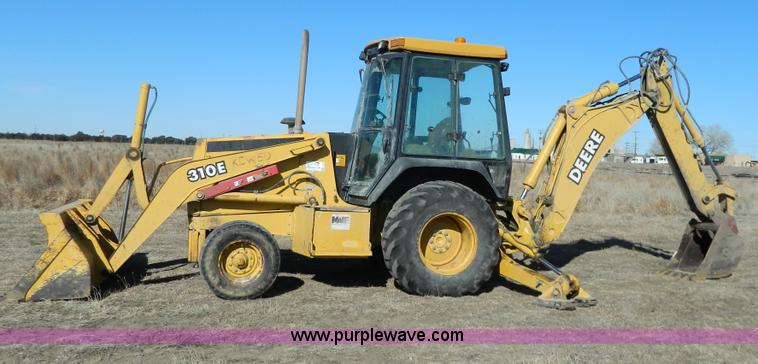 G7796.JPG - 1997 John Deere 310E backhoe , 5,767 hours on meter , Hours may vary , 4 5L four cylinder diesel eng...