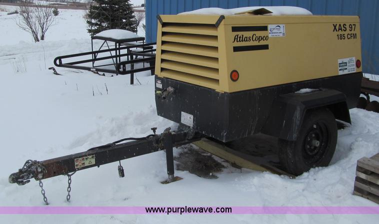 G2539.JPG - 2007 Atlas Copco XAS97 air compressor , 418 hours on meter , John Deere engine , Serial PE4D24T11285...
