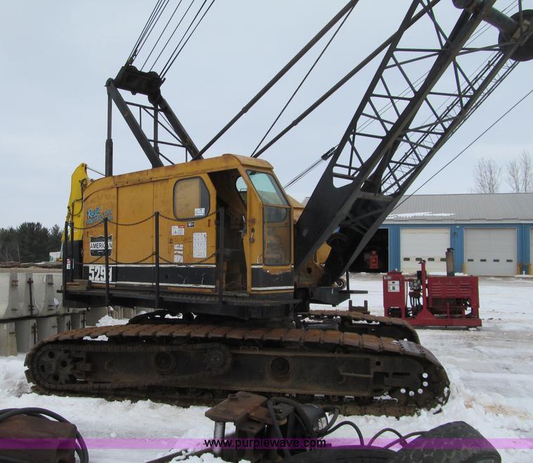 G2579.JPG - 1966 American 5299 crawler crane , 1,042 hours on meter , Actual hours unknown , Detroit 671 diesel ...