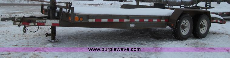 G2584.JPG - 2005 PJ 620DF tandem axle trailer , 18L x 7W wood deck , 2L dovetail , Stake pockets , Jack stand , ...