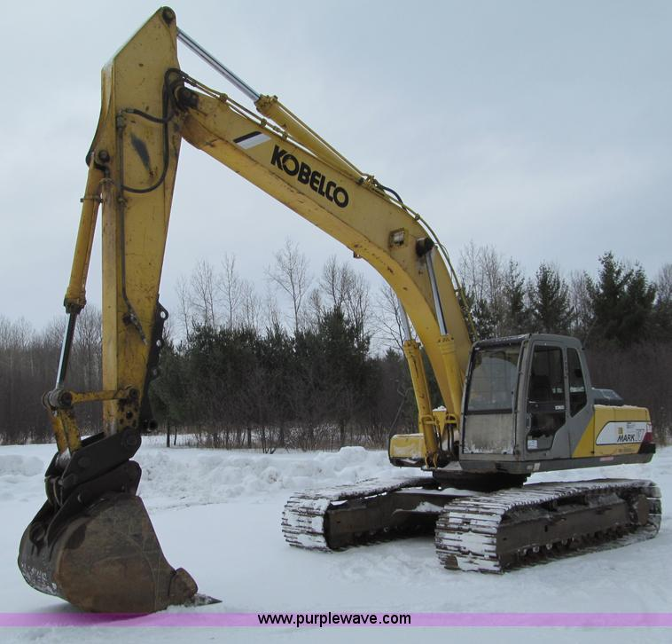 G2596.JPG - 1996 Kobelco SK220LC Mark IV excavator , 8,640 hours on meter , Cummins six cylinder diesel engine ,...