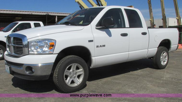 AB9418.JPG - 2008 Dodge Ram 1500 Big Horn Quad Cab pickup truck , 144,891 miles on odometer , 5 7L V8 OHV 16V gas...