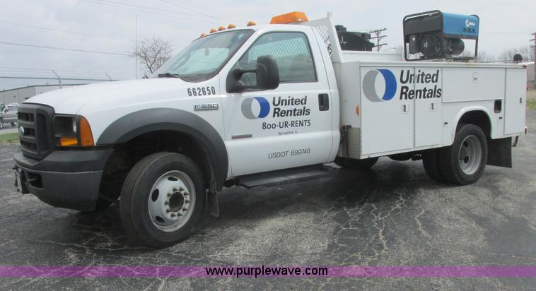 E7184.JPG - 2007 Ford F550 XL Super Duty service truck , 125,603 miles on odometer , Powerstroke 6 0L V8 diesel ...