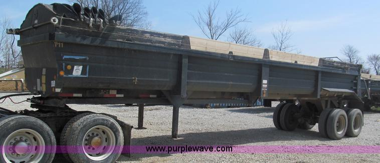 E5971.JPG - 2000 Lufkin 38 end dump trailer , Model ULDIT38 Ultra light , Power sliding tarp , Spring camel back...