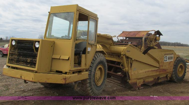 F4436.JPG - 1976 Caterpillar 613B elevating scraper , 7,597 hours on meter , Caterpillar 3208 diesel engine , Se...