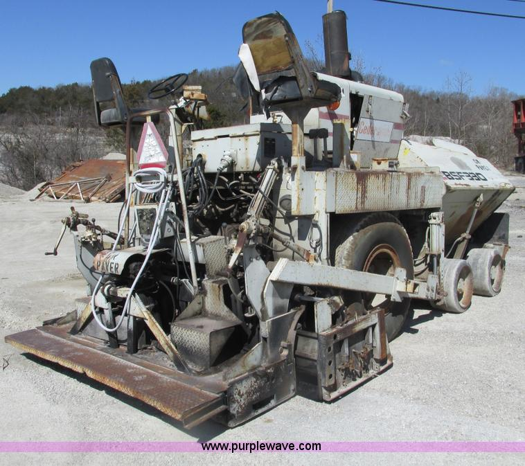 F4446.JPG - 1985 Cedarapids BSF330 wheeled asphalt paver , 2,822 hours on meter , Cummins 391 diesel engine , 8 ...