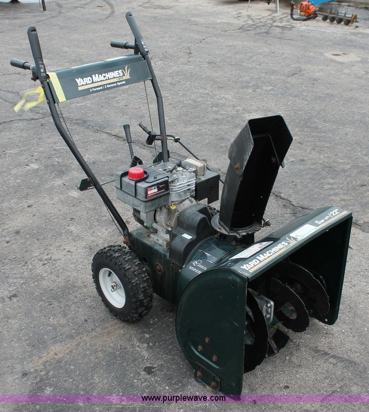 Yard Machine Snow Blower 5 Inch Manual Upc 043033555239