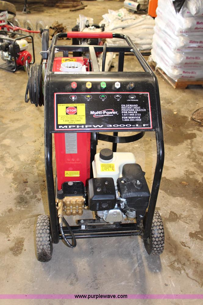 AJ9619.JPG - Multi Power hot water high pressure washer , Model MPHPW3000 LF , 6 5 HP gas engine , 2,500 psi , 3 ...