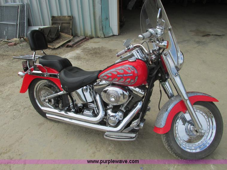 V9961.JPG - 2002 Harley Davidson Fat Boy motorcycle , 11,735 miles on odometer , Limited edition , Number 103 of...