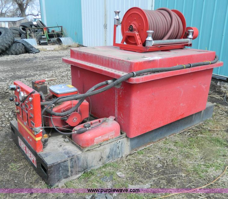 No Reserve Auction On Tuesday May 07: Hale 300 Gallon Skid Mount Fire Pump Unit