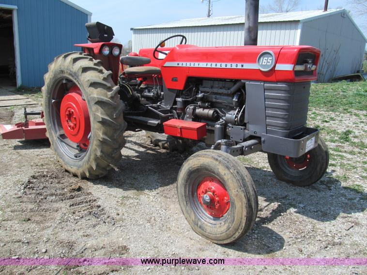 E5983.JPG - Massey Ferguson 165 tractor , 2,917 hours on meter , Four cylinder diesel engine , Serial 2030A46006...