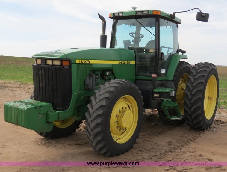 B4721.JPG - 1998 John Deere 8400 MFWD tractor , 8,047 hours on meter , John Deere 8 1L six cylinder turbo diesel...