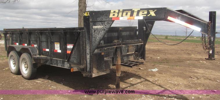 B5467.JPG - 2007 Big Tex 14LX gooseneck tandem axle dump trailer , 14L x 73 25 quot W , 611 25 quot W inside bed...