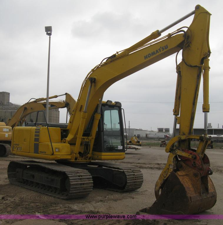 E3375.JPG - 2000 Komatsu PC120 6E Advance excavator , 9,342 hours on meter , Komatsu four cylinder diesel engine...