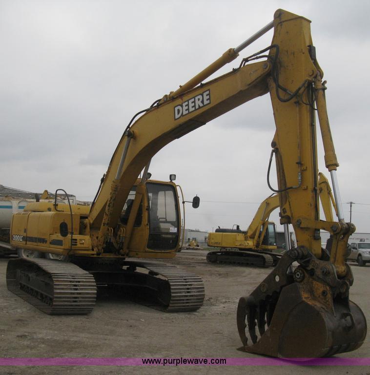 E3378.JPG - 1998 John Deere 200LC excavator , 17,413 hours on meter , John Deere 6068TT051 six cylinder diesel e...